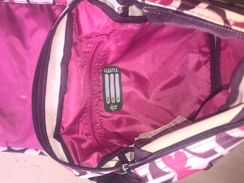 bolso cartera totto original de dama rosado (morral)