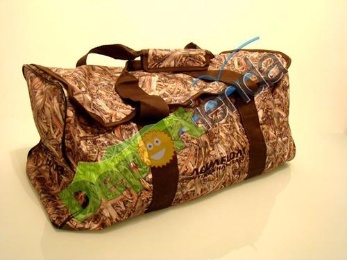 bolso caza / nautico camuflado aquafloat hard bags 55x31 cm.