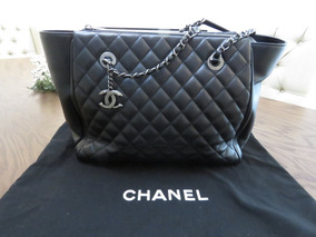 b6efeed6c Bolso Chanel Shopping Bag Grande Original En Piel