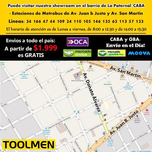 bolso cinturon porta herramientas toolmen t990 electricista
