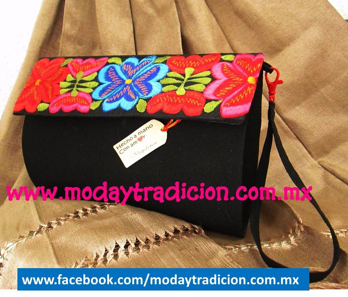 clutch Hecho 00 A Mexicano Artesanal Mano Mercado Bolso 329 en PqOndxwP