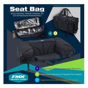 Bolso Con Asiento Adicional Y Refrigerador Impermeable Universal Cuatriciclo Parrillero Agrario Fmx Covers Tech  Negro