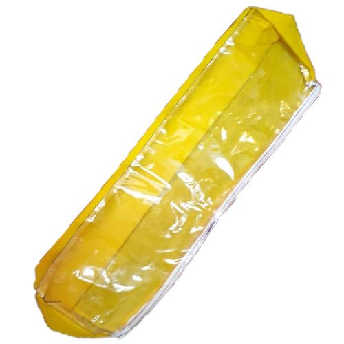 bolso con cierre tela 47 x 13 cm resistente amarillo ramos