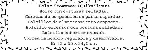 bolso con correa regulable quiksilver stowaway red #27131001