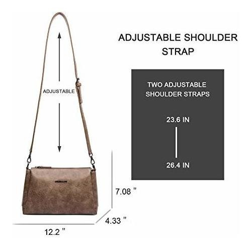 bolso cruzado para mujer bolso y bolso de mano ligero vegano
