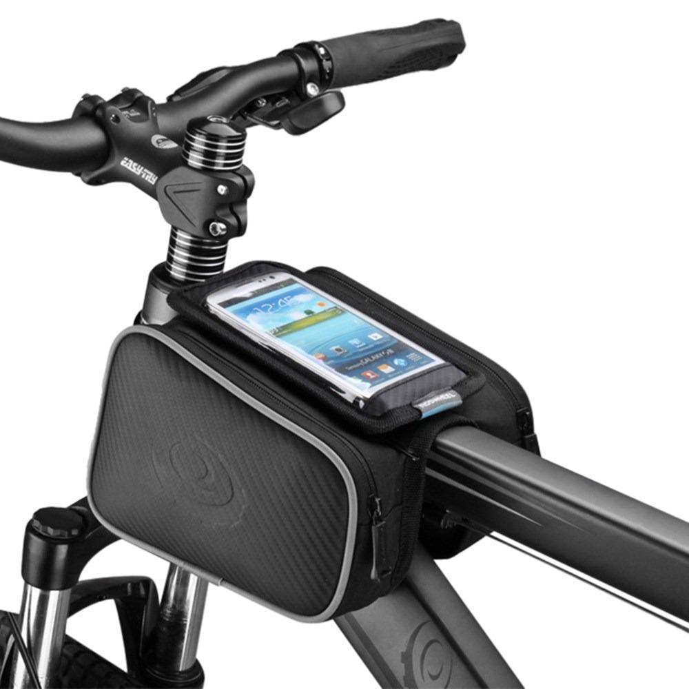 Bolsa doble para cuadro de bicicleta con capacidad de 1,8 l Roswheel