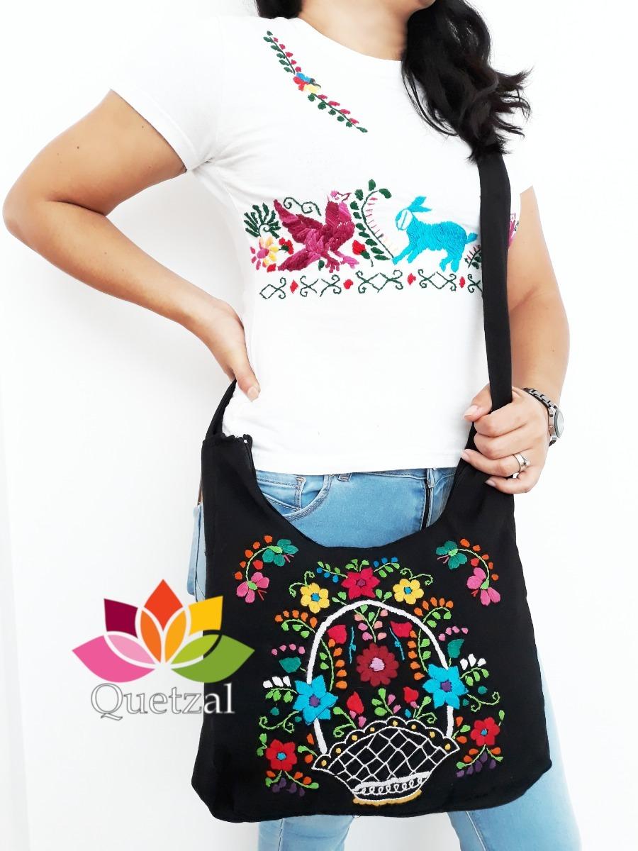 Bolso De Dama Artesanal Mexicano Bolsa Bordada Típica