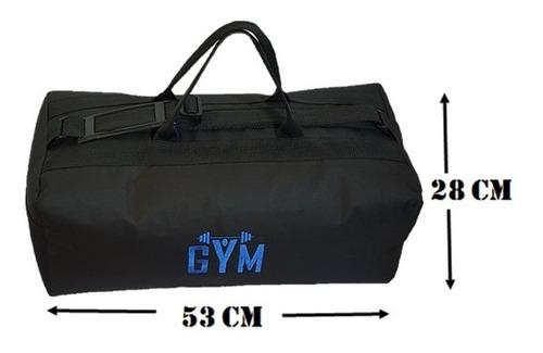 bolso de gimnasio logo azul / gym