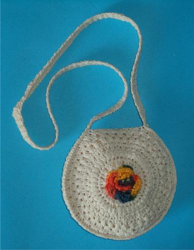bolso de hilo blanco nº1, crochet