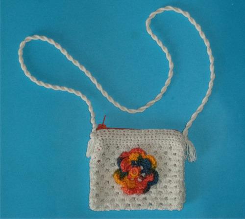 bolso de hilo, rectangular crochet