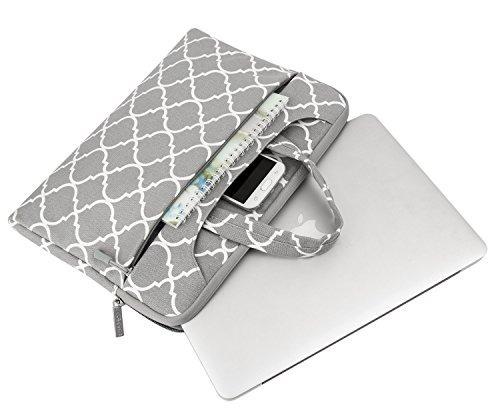 bolso de laptop mosiso para macbook pro de 15-15.6 in gris