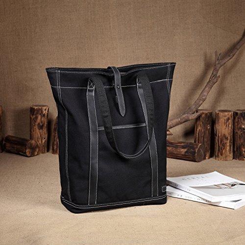 bolso de lona de cuero resistente al agua vintage grande par