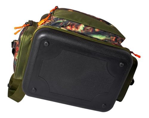 bolso de pesca lexus lt-1677 camuflado base rigida