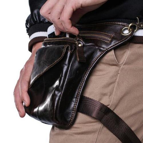 bolso de pierna hombre 100% cuero alta calidad