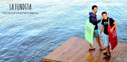 bolso de playa de lona para llevar 1 reposera (exclusivos)