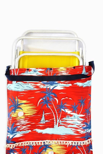 bolso de playa de lona para llevar 2 reposeras