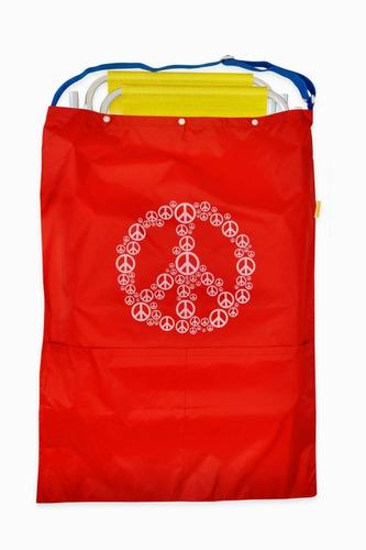 bolso de playa impermeable para llevar 2 reposeras