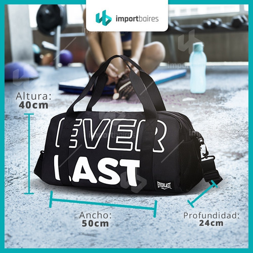 bolso de viaje crossfit deportivo everlast gimnasio gym