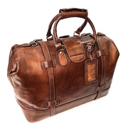 bolso de viaje cuero hombre mujer correa ajustable modelo 0630