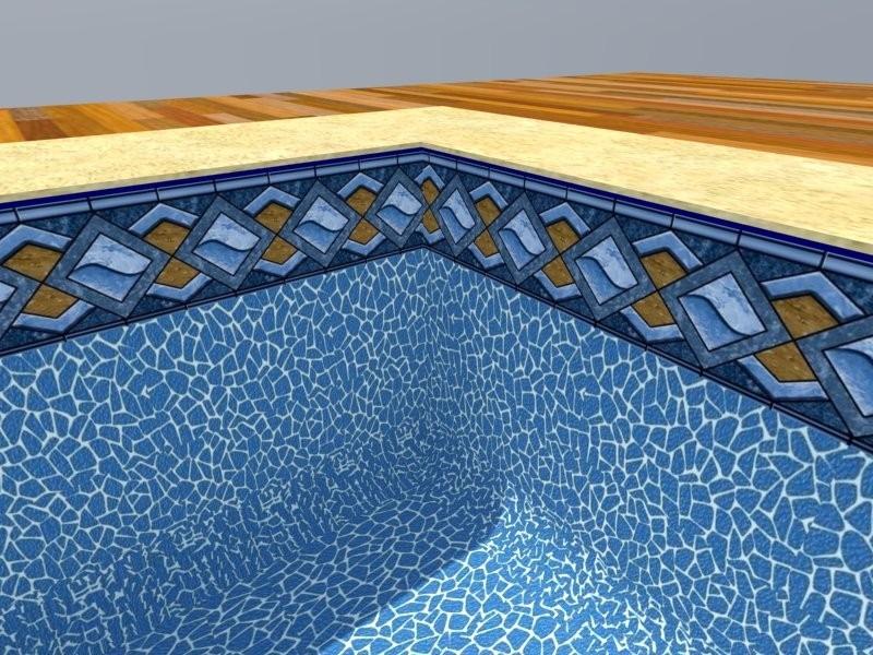 Bols o de vinil para piscinas viniltec 0 6 mm modelo 3d for Piscina fum d estampa