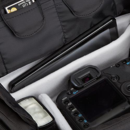 bolso del gadget medio de amazonbasics dslr (interior gris)