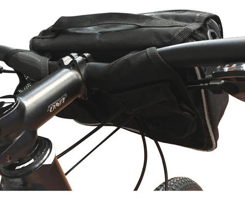 bolso delantero manubrio bicicleta + correa + porta botella