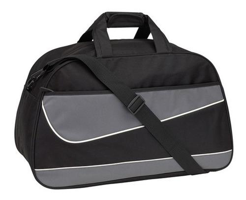 bolso deportivo amplio con cierre y bolsillo frontal