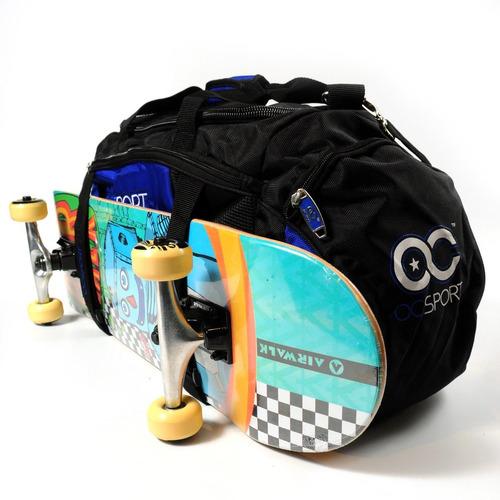 bolso deportivo training urbano oc sport oc2025x porta skate