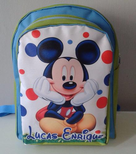 bolso escolar mediano soy luna personalizado (preescolar)