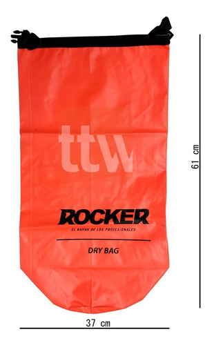 bolso estanco 25 litros rocker imp kayak tabla inflable moto