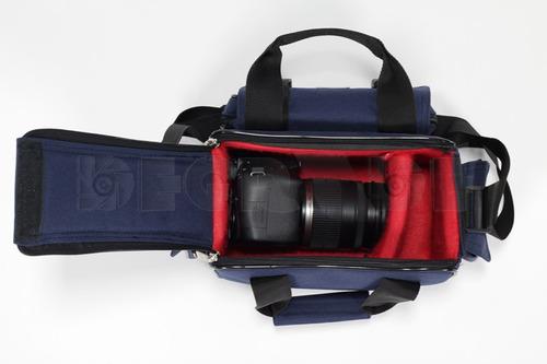 bolso estuche cámara video reforzado bolsillos 33x20x17cm