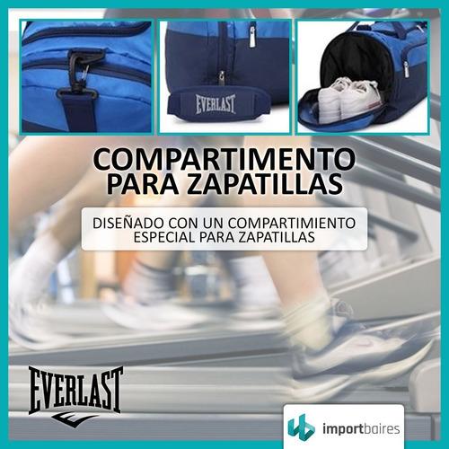 bolso everlast grande deportivo reforzado viajes gym + 6  cuotas sin interes