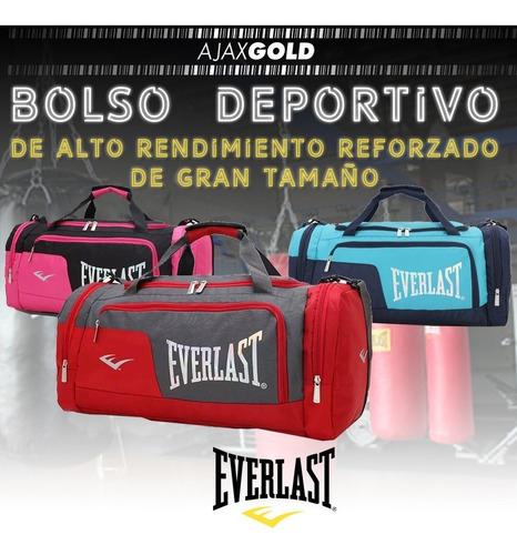 bolso everlast original 26212 deportivo bolsillos gym grande