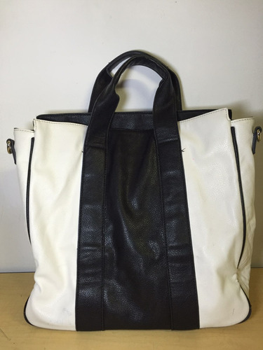 bolso forever 21 blanco y negro a6