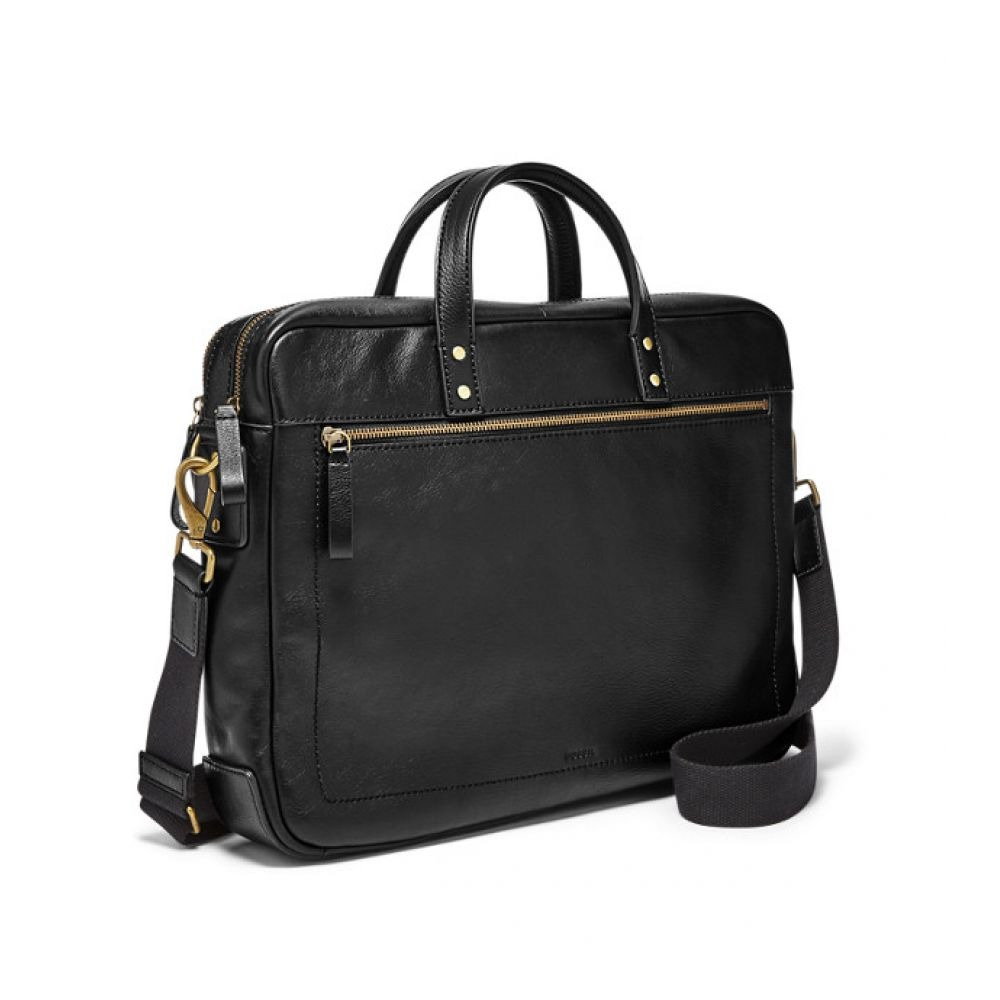 0cac0769486f bolso fossil haskell double zip briefcase negro mbg9342001. Cargando zoom.