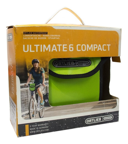 bolso frontal bicicleta ortlieb ultimate 6 manubrio 2.7lts