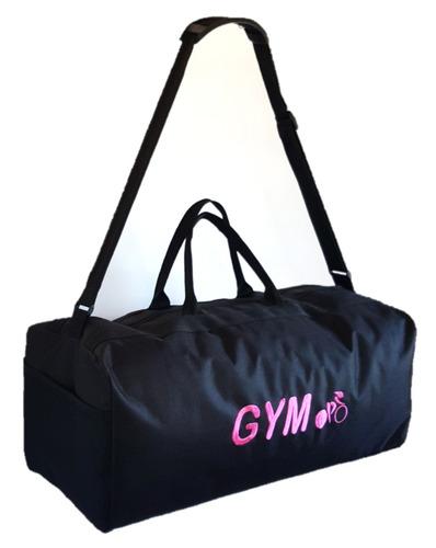 bolso gym logo fucsia / maletin