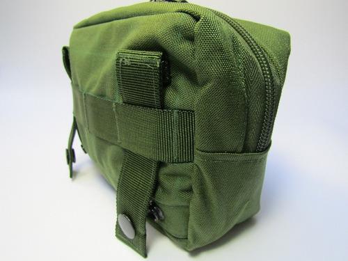 bolso horizontal modular (molle) cordura 500 cor verde eq
