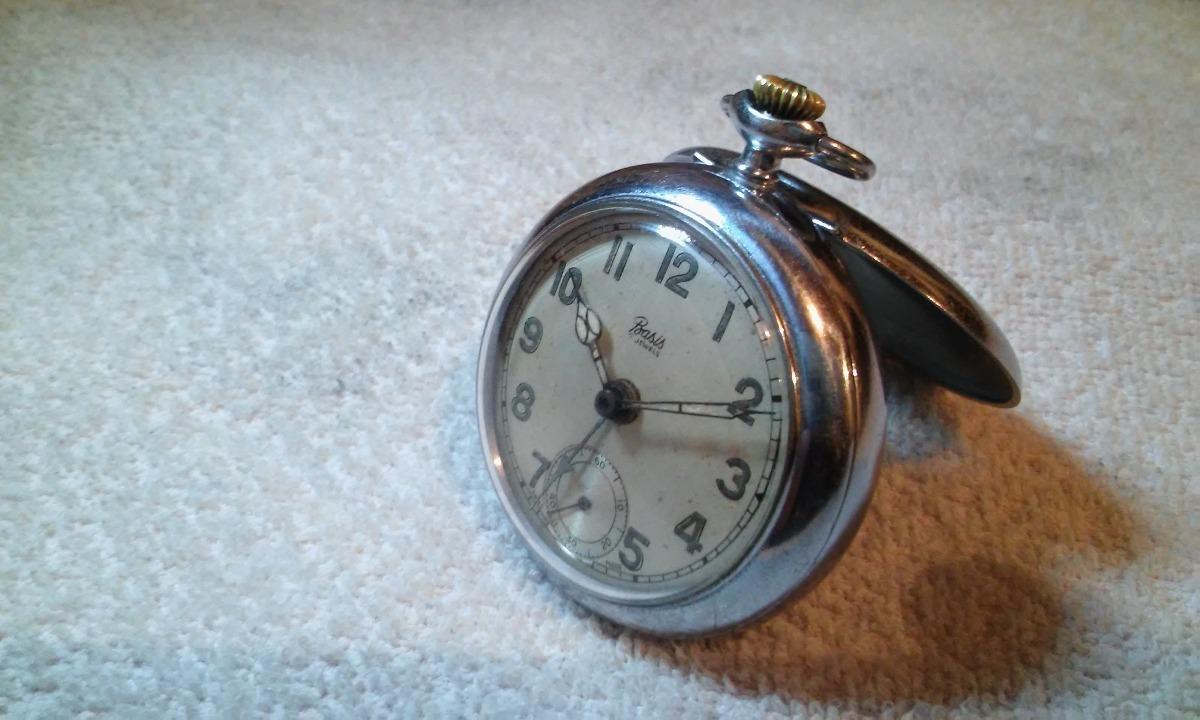 471e712dec5 Relógio Bolso Basis 7 Joias Swiss Brevet Despertador Alarme - R  535 ...