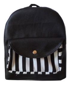 2b15b405 Bolso Juvenil Dama Backpack Morral Semipiel Semicuero Mini