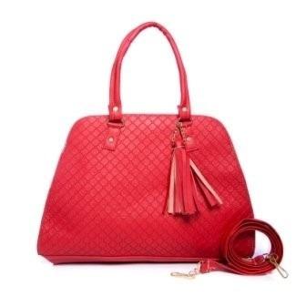bolso karina color rojo grande premium