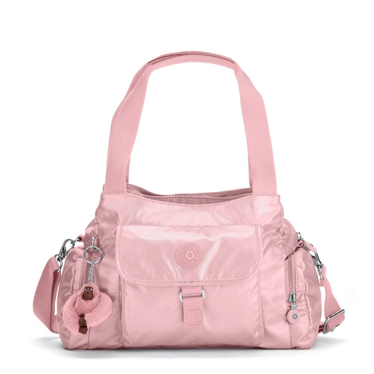 7a9ff631b Bolso Kipling Felix Icy Rose Metallic - $ 260.000 en Mercado Libre