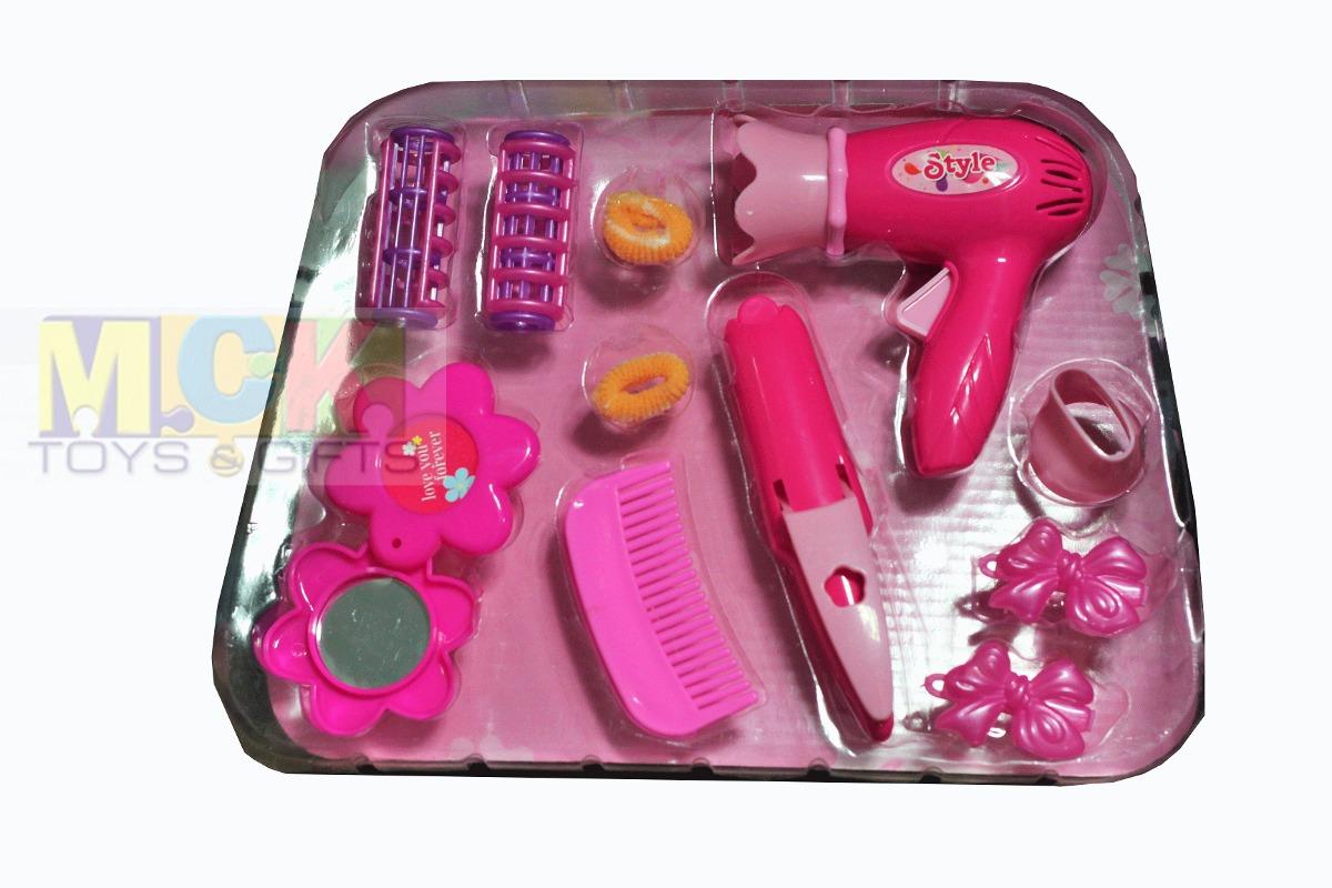 Bolso kit peluqueria ni as juguete secador peinilla 1235ab for Espejo que habla juguete