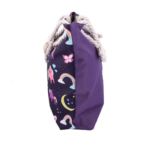 bolso lona estampada dama mujer cordón juvenil marca dogma