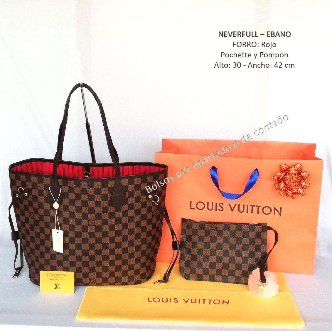 b61128c26 Bolso Louis Neverfull Ebano Damier Azur Domino - $ 1,280.00 en ...