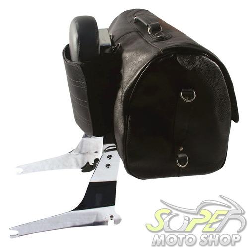 bolsão mala moto traseira de garupa riders classic em couro