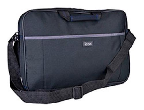 bolso maletin notebook hasta 15.6  negro + correa
