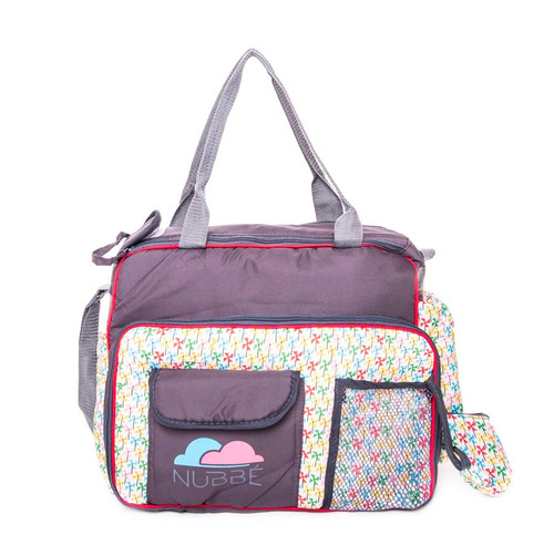 bolso maternal para bebe con cambiador y bosillos promo