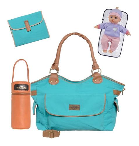 bolso maternal/bebe portamamadera cambiador orig materlina