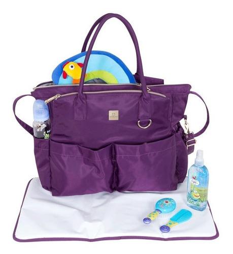 bolso maternales saxoline maternity pro morado 29,3
